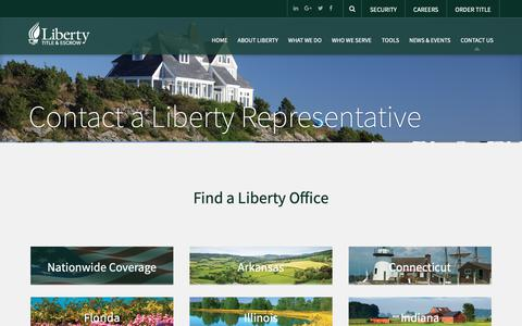 Screenshot of Contact Page libtitle.com - Contact a Liberty Representative - Liberty - captured Sept. 28, 2018