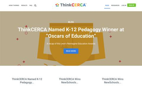 Screenshot of Press Page thinkcerca.com - Blog   ThinkCERCA   In the News - captured Nov. 1, 2017