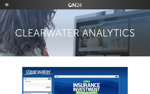 Screenshot of Case Studies Page on24.com - Case Study: Clearwater taps ON24 for marketing boost   ON24 - captured Oct. 12, 2017