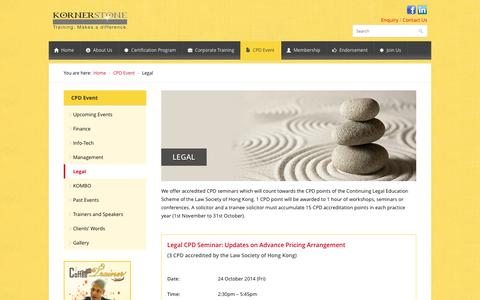 Screenshot of Terms Page kornerstone.com - Legal | KORNERSTONE - Training Makes a Difference - captured Oct. 6, 2014