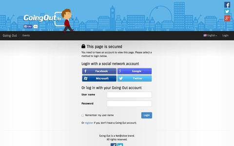 Screenshot of Login Page goingout.to - Going Out - This page is secured - captured Oct. 1, 2014