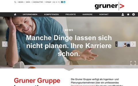 Screenshot of Home Page kiwi.ch - Gruner AG | - captured Oct. 14, 2018