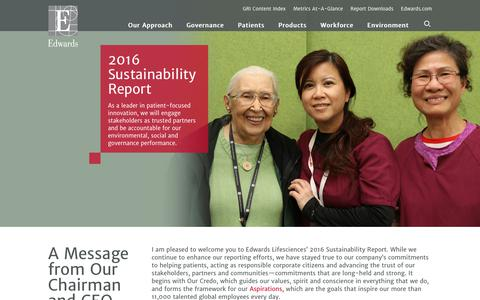 Edwards 2016 Sustainability Report   Home