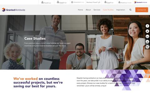 Screenshot of Case Studies Page traveledge.com.au - Case Studies | Granted Worldwide - captured Feb. 16, 2018