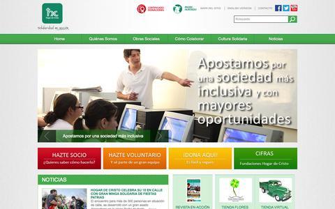 Screenshot of Home Page hogardecristo.cl - Hogar de Cristo | Solidaridad en Acción - captured Sept. 30, 2014