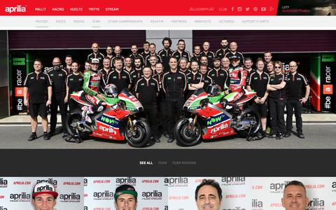 Screenshot of Team Page aprilia.com - Team - Aprilia - captured Oct. 24, 2018