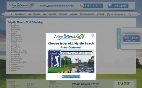 Screenshot of Site Map Page myrtlebeachgolf.com - Myrtle Beach Golf - Official Golf Website of Myrtle Beach - captured Sept. 22, 2014