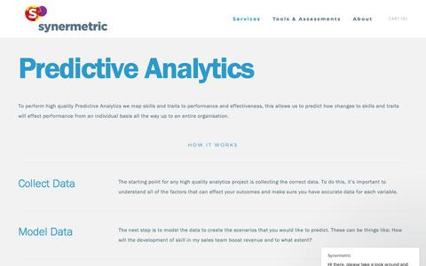 Screenshot of Services Page synermetric.com - Predictive Analytics — Synermetric - captured Nov. 7, 2018