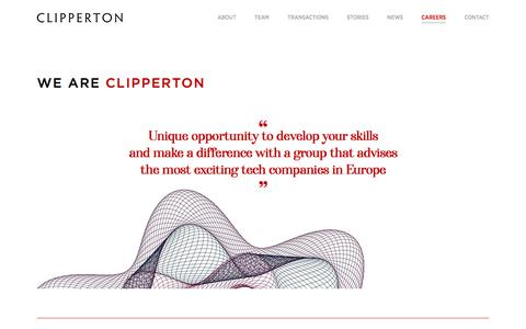 Screenshot of Jobs Page clipperton.net - Careers | Clipperton Finance - captured Jan. 20, 2020