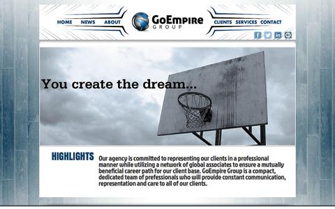Screenshot of Home Page goempiregroup.com - GoEmpire Group - captured Dec. 5, 2015