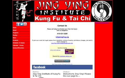 Screenshot of Contact Page jingying.org - Contact Us - captured Feb. 11, 2016