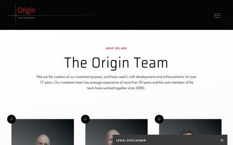 Screenshot of Team Page originam.com - Origin Asset Management - People | Who we are - captured Oct. 21, 2018