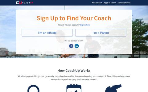 Sign Up | CoachUp