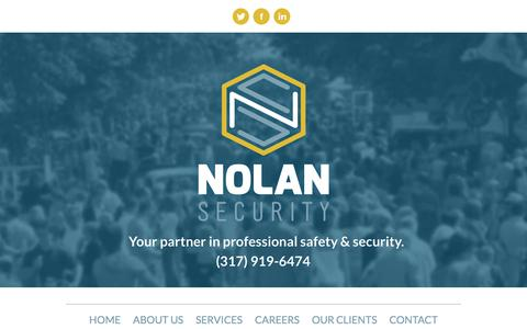 Screenshot of Home Page nolansecurity.net - Nolan Security - captured Dec. 6, 2016
