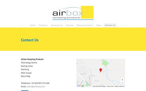 Screenshot of Contact Page airboxsp.com - Airbox -contact us - Airbox - captured Oct. 3, 2018