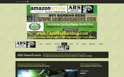Screenshot of Press Page bamboo.org - American Bamboo Society - Official Website - ABS - BAMBOO - Bamboo.org - captured Oct. 3, 2018