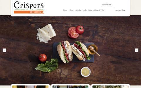 Screenshot of Home Page crispers.com - Crispers - - captured Feb. 1, 2016