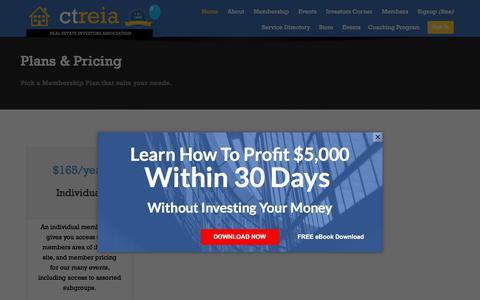 Screenshot of Pricing Page ctreia.com - Membership Pricing - Registration - CT REIA - captured July 10, 2017