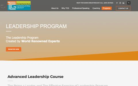 Screenshot of Team Page townsendconsultinggroup.com - Naples Leadership Course | Townsend Consulting Group - captured Nov. 18, 2018