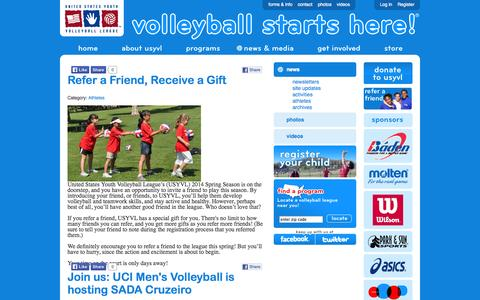 Screenshot of Press Page usyvl.org - news - captured Oct. 9, 2014