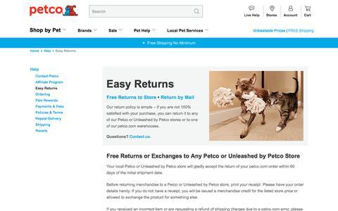Easy Returns | Petco