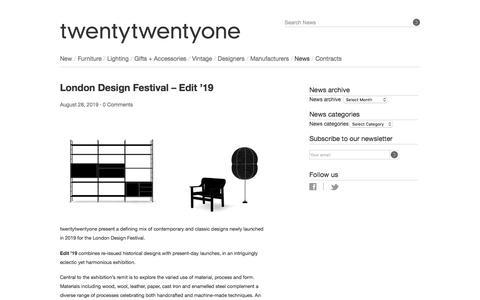 Screenshot of Press Page twentytwentyone.com - twentytwentyone - captured Nov. 3, 2019