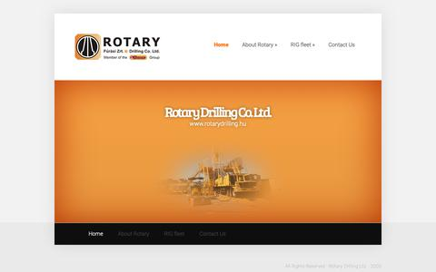 Screenshot of Home Page rotarydrilling.hu - Rotary Drilling Zrt.   - captured Oct. 18, 2018