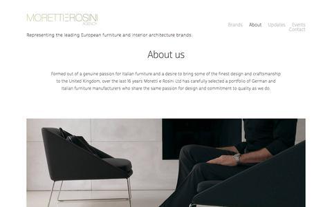 Screenshot of About Page moretti-rosini.com - About — Moretti e Rosini Agency - captured Sept. 21, 2018
