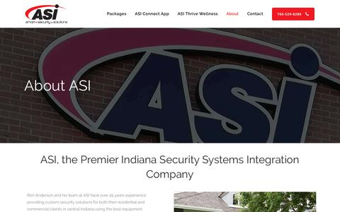 Screenshot of About Page asisecurity.solutions - About ASI - ASI Security Solutions - captured Nov. 12, 2018
