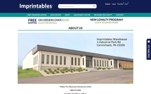 Screenshot of About Page imprintables.com - About Us | Imprintables Warehouse - captured Nov. 26, 2016
