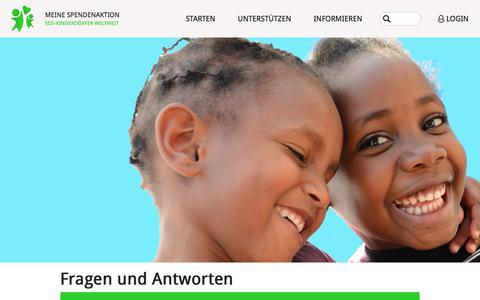 Screenshot of FAQ Page meine-spendenaktion.de - Informationen - Fragen und Antworten - Meine Spendenaktion - SOS-Kinderdörfer weltweit - captured April 21, 2018