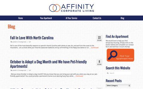 Screenshot of Blog affinitycorporateliving.com - Blog   Affinity Corporate Living - captured Nov. 2, 2014