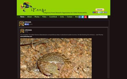 Screenshot of Press Page ifrogs.net - i.F.r.o.g.s. : News - captured Oct. 6, 2014