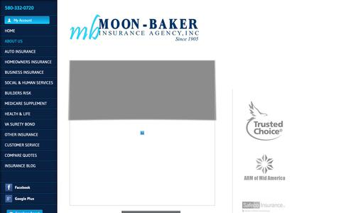 Screenshot of About Page moonbaker.com - About Moon Baker Agency Inc. - captured Oct. 20, 2018