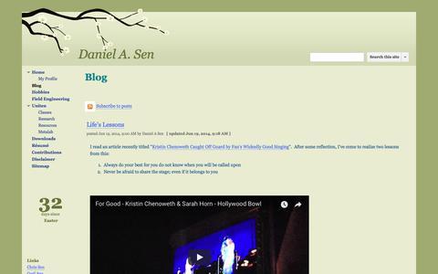 Screenshot of Blog google.com - Blog - Daniel A. Sen - captured May 4, 2018