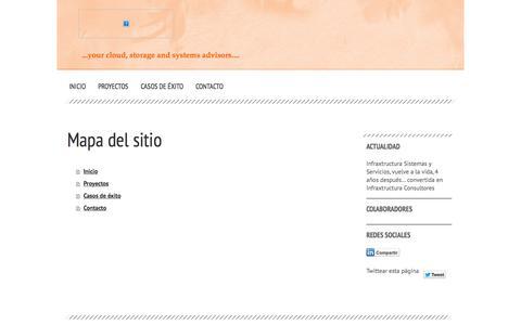 Screenshot of Site Map Page infraxtructura.es - Inicio - Infraxtructura Consultores - Especialistas en diseño de soluciones de Cloud Híbrida - captured Oct. 6, 2014