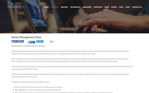 Screenshot of Team Page marketingeye.com - Marketing Management Team - Marketing Managers - Marketing Consultants - captured April 18, 2019