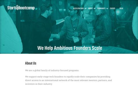 Screenshot of About Page startupbootcamp.org - About us - Startupbootcamp - captured June 30, 2017