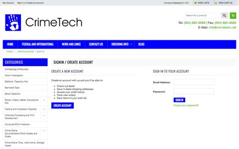 Screenshot of Login Page mybigcommerce.com - CrimeTech - Sign in - captured Sept. 18, 2014
