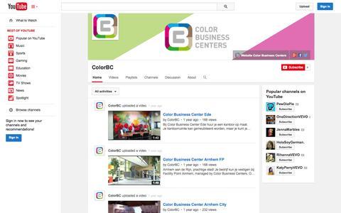 Screenshot of YouTube Page youtube.com - ColorBC  - YouTube - captured Nov. 2, 2014