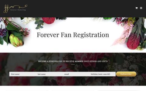 Screenshot of Signup Page foreverflowering.com.au - Sign Up to Forever Flowering Newsletter List – Forever Flowering - captured Dec. 10, 2018