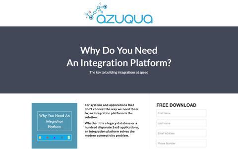 Screenshot of Landing Page azuqua.com - Azuqua - captured Dec. 16, 2016