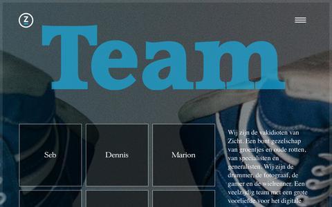 Screenshot of Team Page zicht.nl - Team - Zicht online - captured Jan. 12, 2016