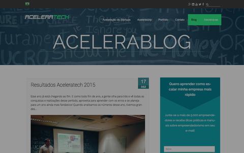 Screenshot of Blog aceleratech.com.br - Blog Aceleratech - captured Dec. 23, 2015