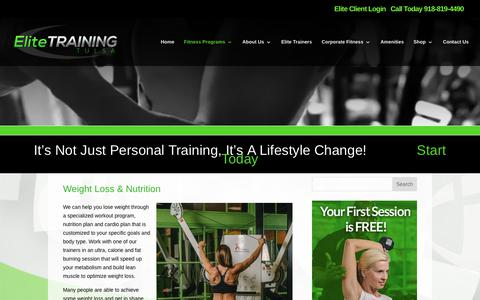 Elite Training Tulsa | Weight Loss & Nutrition Training | Elite Training