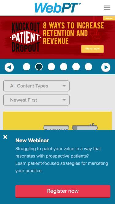 Screenshot of Blog  webpt.com - WebPT's Physical Therapy Blog   WebPT