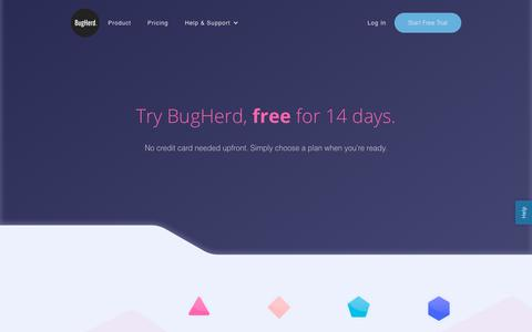 Screenshot of Pricing Page bugherd.com - The price of bug tracking online | BugHerd Pricing - captured Oct. 27, 2018