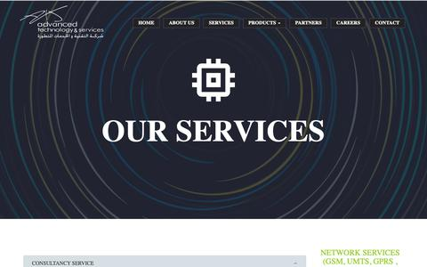 Screenshot of Services Page atands.net - ATS - SERVICES - captured Nov. 12, 2018
