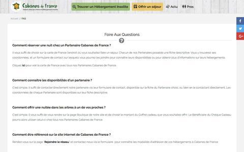 Screenshot of FAQ Page cabanes-de-france.com - FAQ - Cabanes de France - captured May 13, 2017