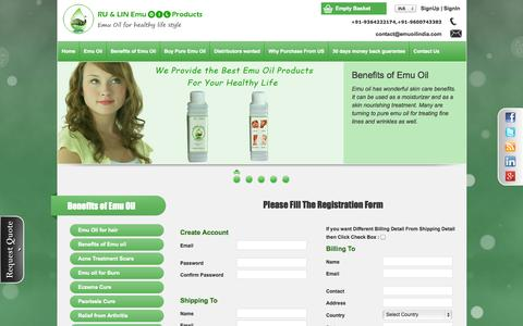 Screenshot of Signup Page emuoilindia.com - Emu Oil India - captured Oct. 7, 2014